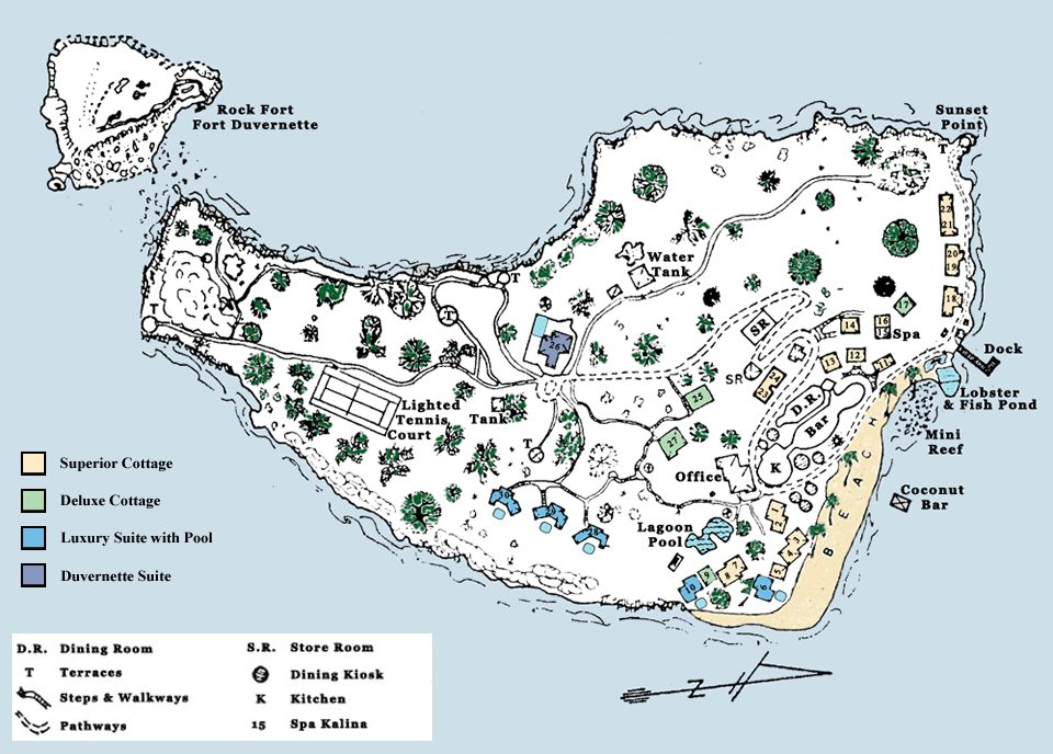 Resort map Young Island
