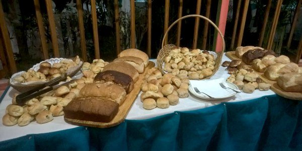 Freshly baked bread at Young Island