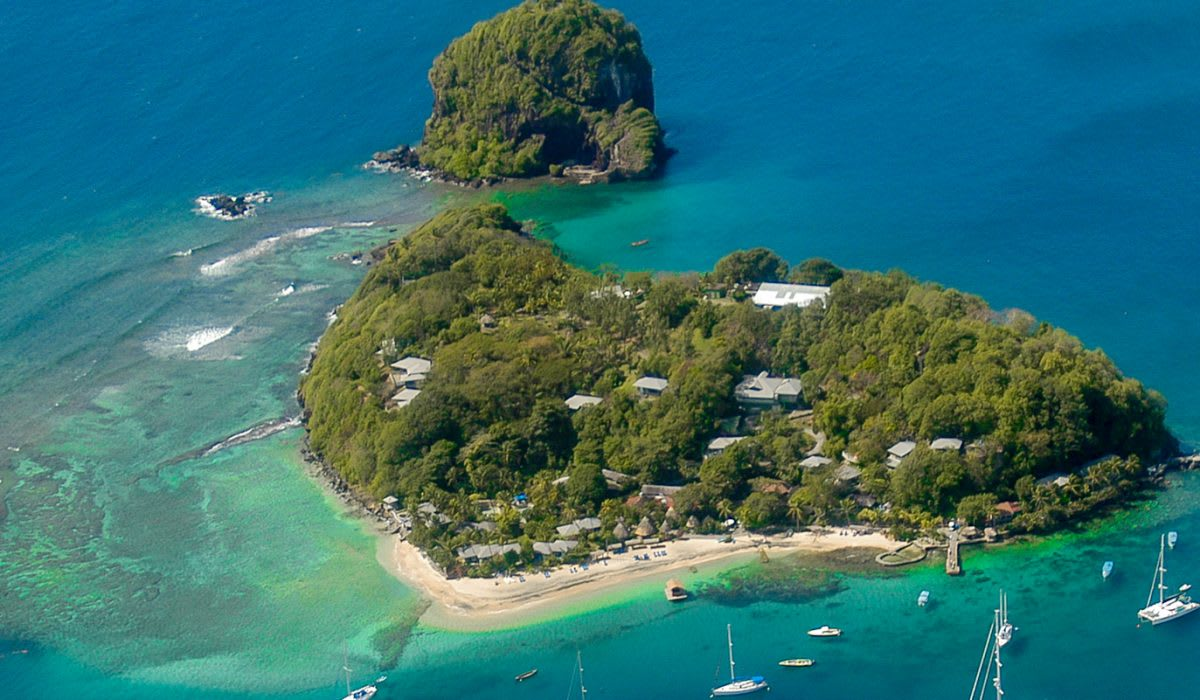 private caribbean island resort in st vincent and the grenadines