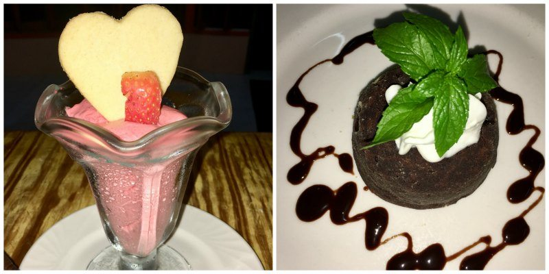 Desserts for Valentine's Day at Young Island